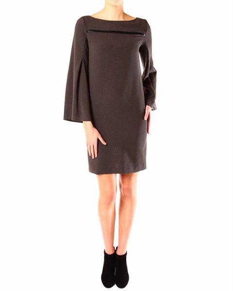 платье декорированное атласной тесьмой на груди артикул A33527 марки PierAntonioGaspari купить за 11500 руб.