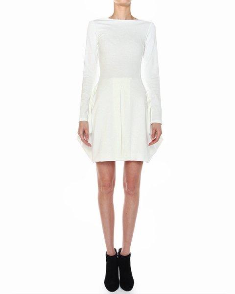 платье приталенного кроя, декорированное объемными складками по подолу артикул A373 марки DONDUP купить за 11100 руб.