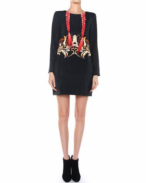 платье прямого кроя с прорезными боковыми карманами артикул A377 марки DONDUP купить за 11900 руб.