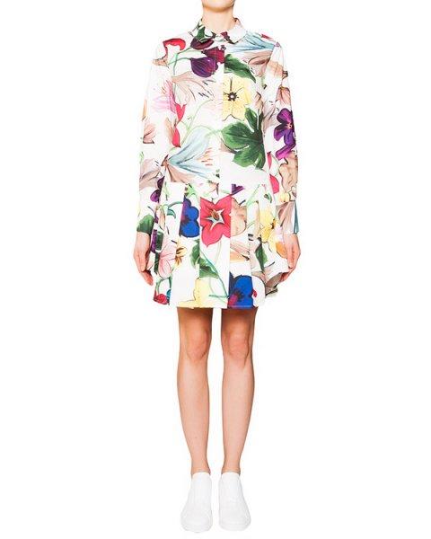 платье из плотного хлопка с яркими цветочными рисунками артикул A569 марки DONDUP купить за 18400 руб.