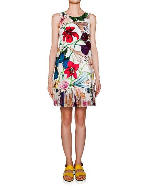 платье из плотного хлопка с яркими цветочными рисунками артикул A587 марки DONDUP купить за 20900 руб.