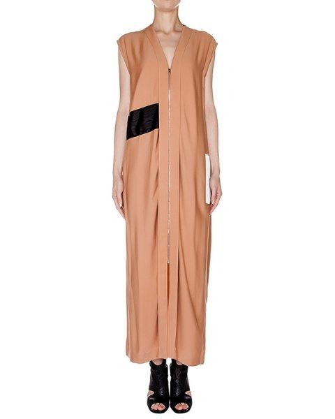 платье в пол из плотной вискозы с контрастной вставкой артикул AASS16DR08 марки AALTO купить за 51400 руб.