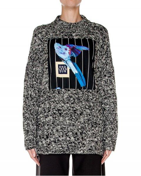 свитер объемный, крупной вязки с аппликацией артикул AASS16KA17J марки AALTO купить за 42000 руб.