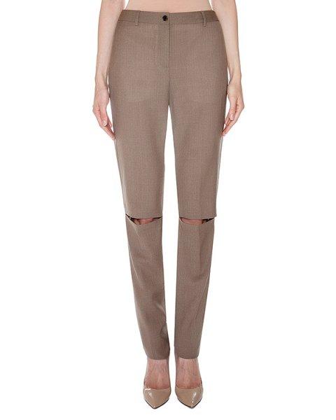 брюки прямого кроя из мягкой шерсти с прорезями на коленях артикул AASS16TRSH02 марки AALTO купить за 28000 руб.
