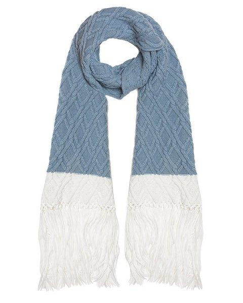 шарф вязаный с длинной бахромой артикул AC282 марки MRZ купить за 33800 руб.