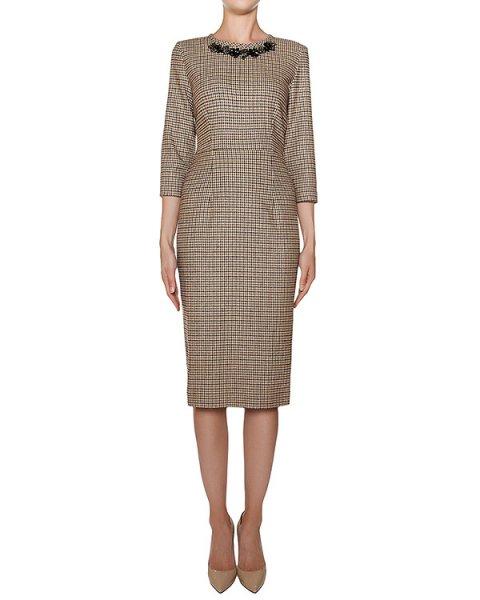 платье футляр приталенного кроя, декорирован крупными стразами артикул ADEL700011Z марки P.A.R.O.S.H. купить за 29300 руб.