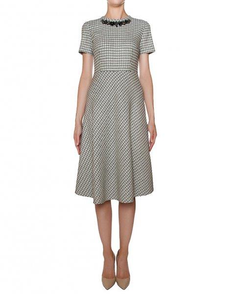 платье приталенного кроя, декорирован крупными стразами артикул ADEL721008Z марки P.A.R.O.S.H. купить за 30300 руб.