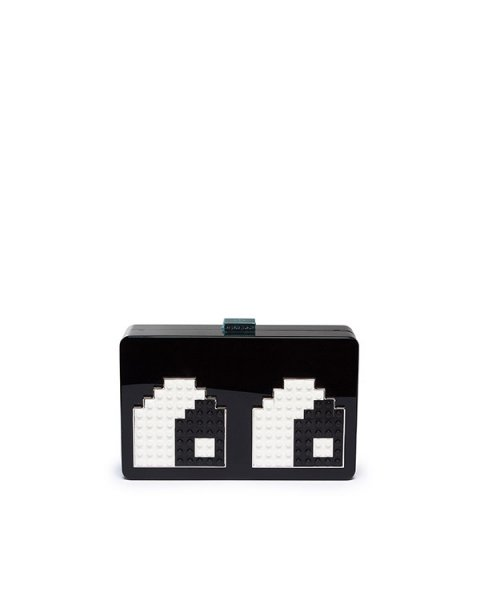 клатч из плексигласа, декорирован деталями Lego артикул ANDY-EYES марки Les petits joueurs купить за 49100 руб.