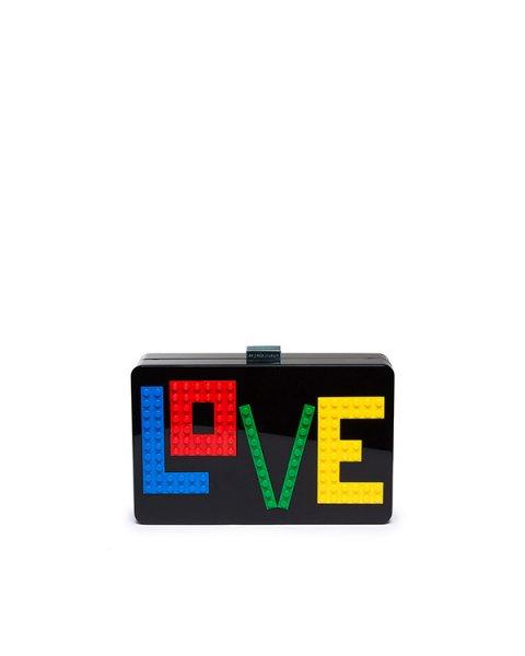клатч из плексигласа, декорирован деталями Lego артикул AYLV-P1-BM марки Les petits joueurs купить за 43600 руб.