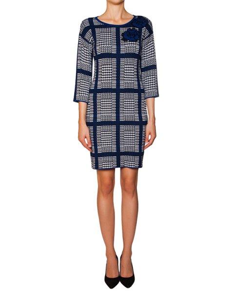 платье из полушерстяного трикотажа в клетку артикул B5W58 марки ARMANI JEANS купить за 7900 руб.