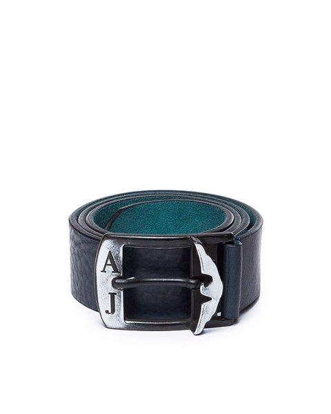 ремень из натуральной кожи с вышитым логотипа бренда артикул B6153 марки ARMANI JEANS купить за 10100 руб.