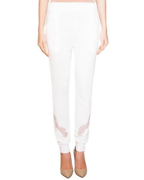 брюки из мягкого хлопка с отделкой из полупрозрачного кружева артикул BB47186 марки Brigitte Bardot купить за 4100 руб.