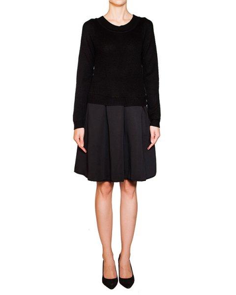 платье верх из мягкой вязаной ткани, юбка в складку из плотного материала артикул BB47226 марки Brigitte Bardot купить за 10300 руб.