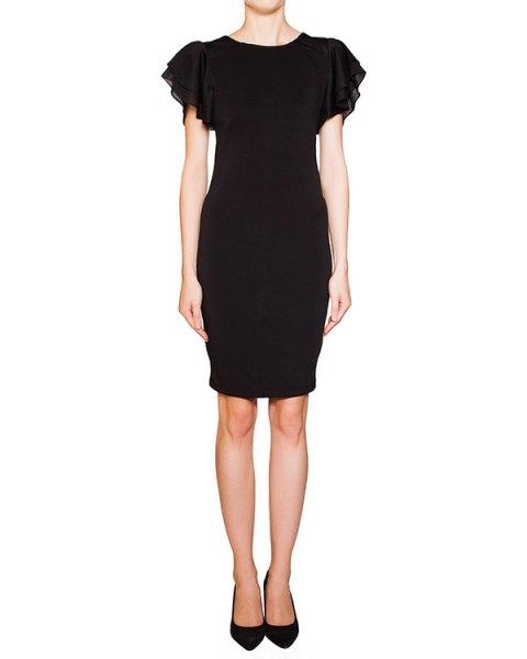 платье из плотной ткани с объемными воланами на рукавах артикул BB47228 марки Brigitte Bardot купить за 8000 руб.