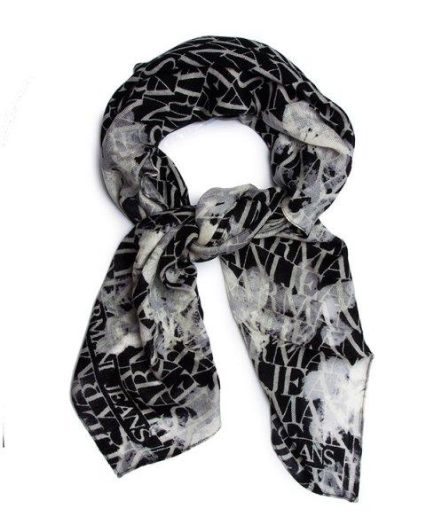 шарф из мягкой шерсти с монохромным логотипом бренда артикул BW447 марки ARMANI JEANS купить за 4400 руб.