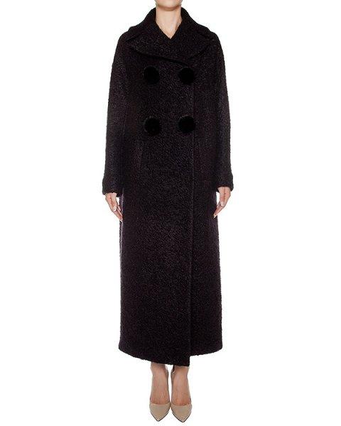 пальто из буклированной шерсти, украшено норковыми помпонами  артикул C0171900 марки Graviteight купить за 161500 руб.