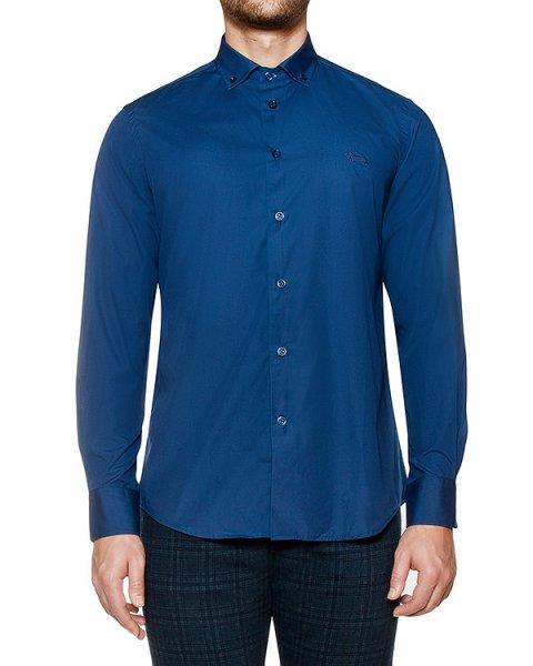 рубашка из плотного хлопка со вставками на локтях артикул C0A93 марки Harmont & Blaine купить за 13200 руб.