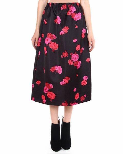 юбка midi, с цветочным принтом и пышным подолом артикул C142 марки № 21 купить за 20800 руб.