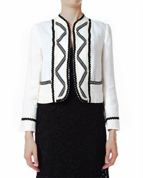 жакет укороченного кроя с объемной контрастной вышивкой артикул C33ISORA марки Polo by Ralph Lauren купить за 15700 руб.
