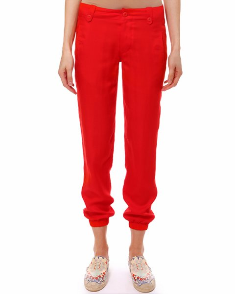 брюки свободного кроя, с эластичными манжетами на щиколотках артикул C34ISNOL марки Polo by Ralph Lauren купить за 8000 руб.