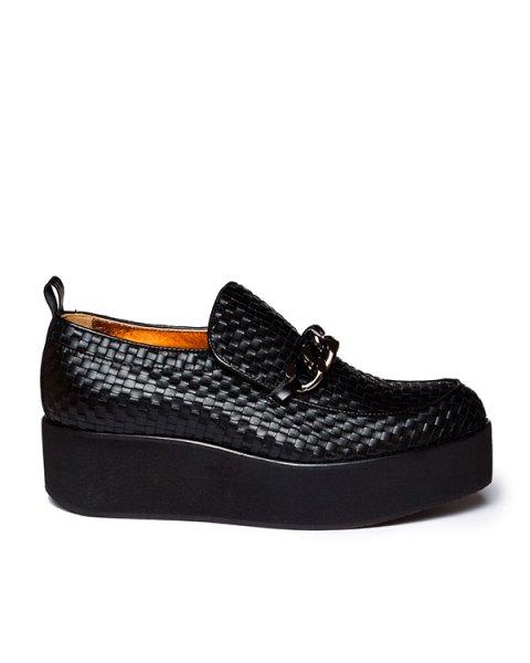 туфли из плетеной натуральной кожи с толстой цепочкой артикул C4INT марки Alexander Smith купить за 17300 руб.