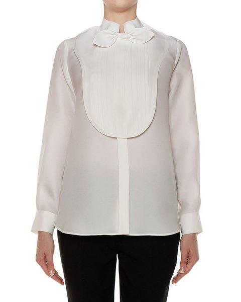 блуза из плотного шелка со съемной манишкой и бантом артикул C606 марки Dice Kayek купить за 73700 руб.