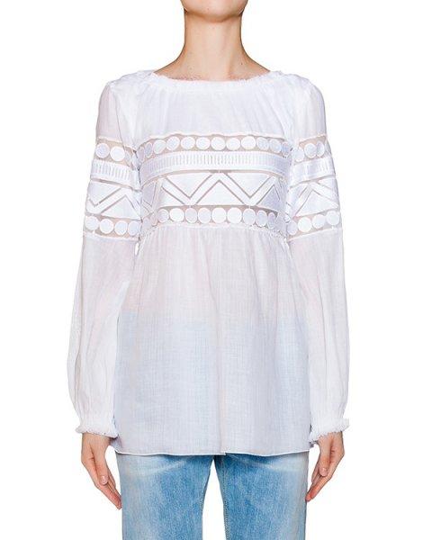 блуза из легкой ткани с ажурной вышивкой артикул C797 марки DONDUP купить за 14400 руб.