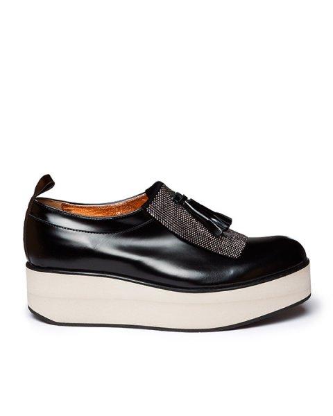 туфли из натуральной гладкой кожи с фактурной отделкой и кисточками артикул C7LISCIO марки Alexander Smith купить за 18100 руб.