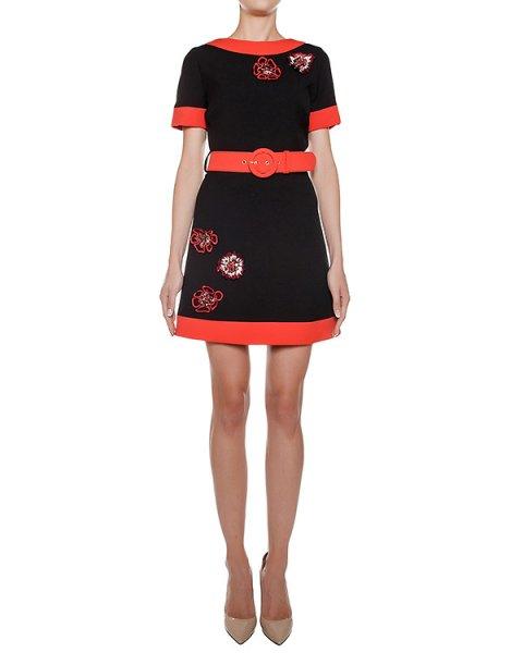 платье из плотного трикотажа с контрастными деталями и вышивкой с пайетками артикул CA6AB0901 марки Simona Corsellini купить за 36100 руб.