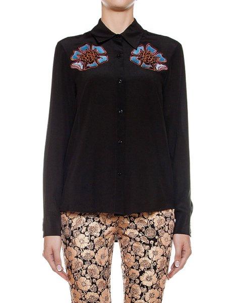 блуза из легкого шелка с вышивкой артикул CA6CA0402 марки Simona Corsellini купить за 20600 руб.