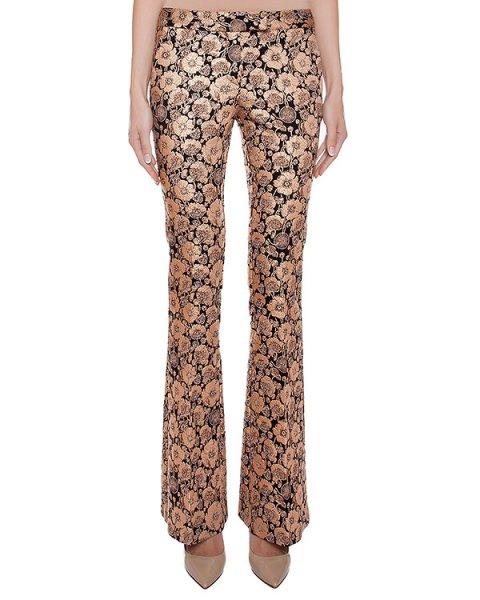 брюки расклешенные, из эластичной ткани с цветочными узорами артикул CA6PA0302 марки Simona Corsellini купить за 20400 руб.