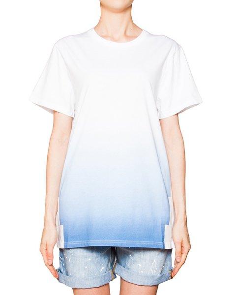 футболка из мягкого хлопка с цветовым переходом артикул CCU153135 марки Cocurata купить за 4200 руб.