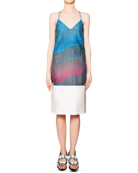 платье на тонких бретельках из плотного шелка и хлопка с ярким рисунком артикул CCW153325 марки Cocurata купить за 13600 руб.