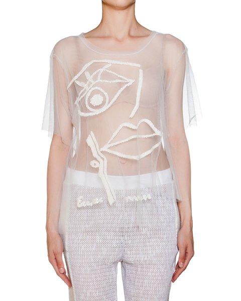 топ из легкой прозрачной ткани с вышивкой артикул CEM465 марки AVIU купить за 10500 руб.