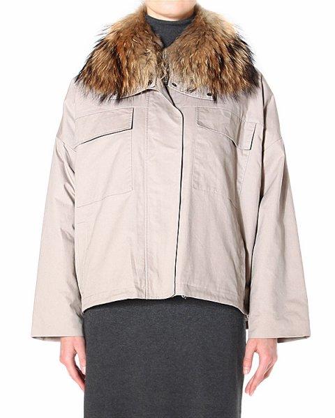 куртка свободного силуэта с удлиненной линией спины артикул CHAUDE470510 марки P.A.R.O.S.H. купить за 30400 руб.