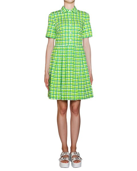 платье из хлопкового трикотажа в клетку артикул CIEK720357 марки P.A.R.O.S.H. купить за 13000 руб.