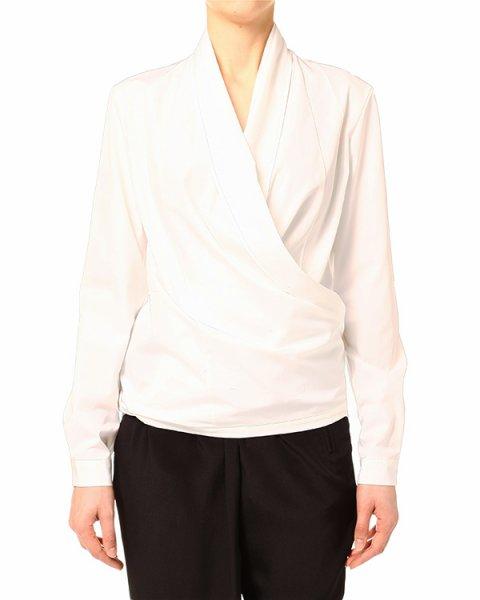 рубашка из плотного хлопка, скроенная на запах артикул CLOVER марки Lutz Huelle купить за 12600 руб.
