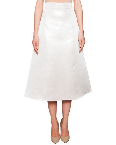 юбка из плотного фактурного материала серебристого цвета артикул COAT0000384 марки Kalmanovich купить за 17300 руб.