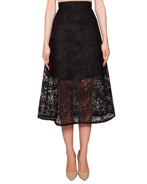 юбка из полупрозрачного шелкового кружева артикул COAT0000391 марки Kalmanovich купить за 22800 руб.