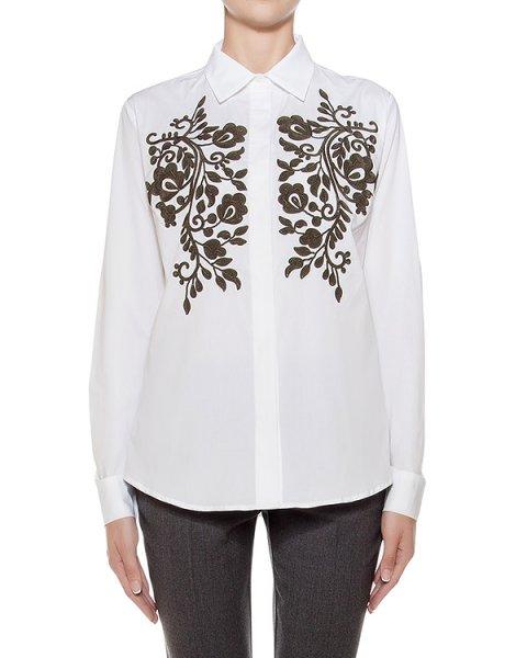 рубашка классического кроя из хлопка, украшена фактурной вышивкой артикул CONSU380518 марки P.A.R.O.S.H. купить за 27000 руб.