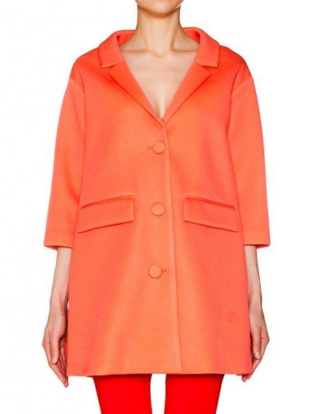 пальто прямого кроя из тонкой мягкой ткани артикул CP6CB0301 марки Simona Corsellini купить за 11800 руб.