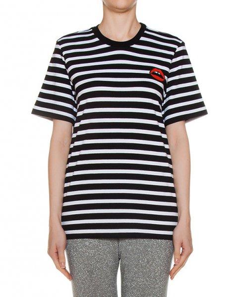 футболка из трикотажа в полоску артикул CTP003 марки Markus Lupfer купить за 6700 руб.