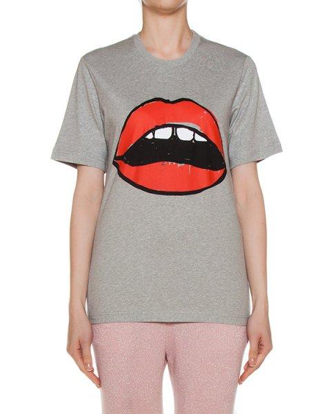 футболка из трикотажа с ярким принтом артикул CTP005 марки Markus Lupfer купить за 5600 руб.