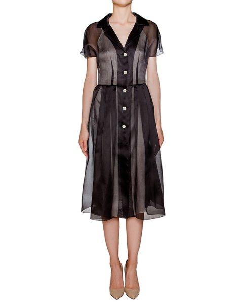 платье из полупрозрачной шелковой органзы артикул D0123052 марки Graviteight купить за 30700 руб.