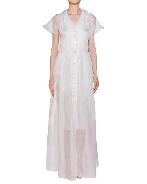 платье свободного кроя из шелковой органзы артикул D0123054 марки Graviteight купить за 32000 руб.