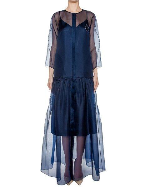 платье свободного кроя, из полупрозрачной шелковой органзы артикул D0563590 марки Graviteight купить за 63400 руб.
