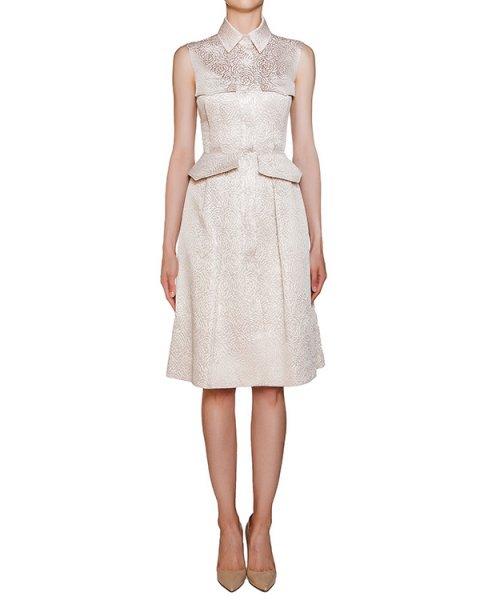 платье приталенного кроя из плотного хлопка и шелка с фактурным рисунком артикул D0625021 марки Graviteight купить за 33800 руб.