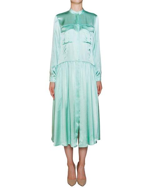 платье из струящегося шелка с высоким разрезом артикул D068 марки Graviteight купить за 43200 руб.