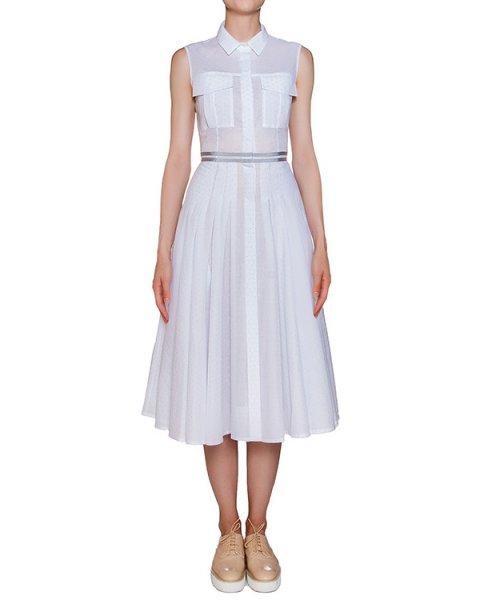 платье приталенного кроя из легкого хлопка в мелкий горох, дополнено отделкой на поясе артикул D0712017 марки Graviteight купить за 35000 руб.