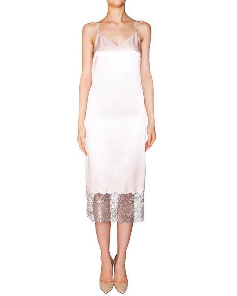 платье комбинация из плотного шелка, декорирована полупрозрачным кружевом артикул D08223036 марки Graviteight купить за 62500 руб.